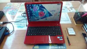 Lavie LS150/A PC-LS150AS6R HDD交換とリカバリ