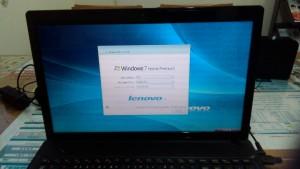 パソコン修理|LENOVO G585| リカバリ後の初期設定