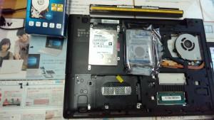 LENOVO G50 HDD取り出し・交換
