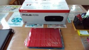 LENOVO ideapad300SとCANON PIXUS iP2700を設置・設定