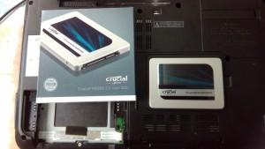 LIFEBOOK AH77/C (FMVA77CR) SSDへ交換
