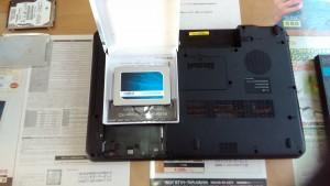 dynabook Qosmio T560/T4AB(PT560T4ABTB) SSD換装