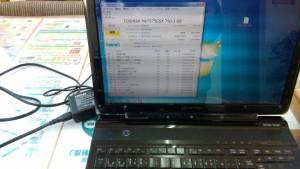 TOSHIBA Qosmio T750/T8B PT750T8BBFB 動きが遅い HDD診断