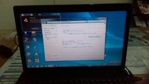 パソコン修理|LENOVO G585|初期設定後にWindows自動更新を行ない最新の状態にする